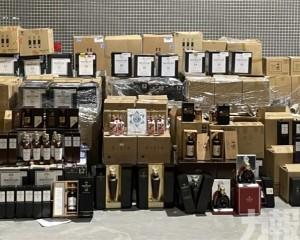 為澳門海關近十年緝獲最大宗酒類走私案