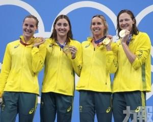 澳洲女子4X100自由泳接力摘金