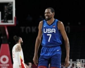 杜蘭特29+2率美國男籃晉級四強