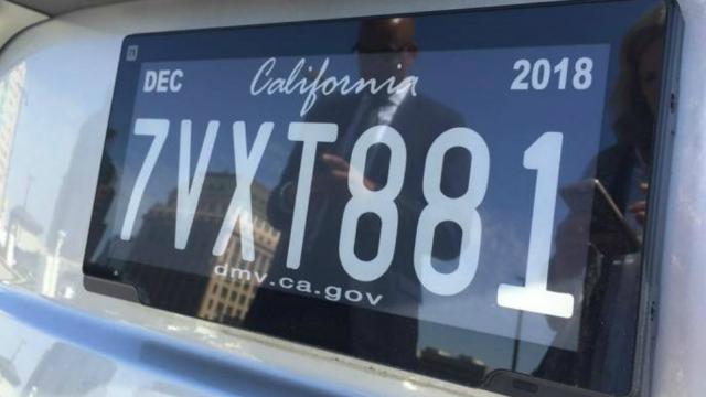 加州推電子車牌每塊5,649元
