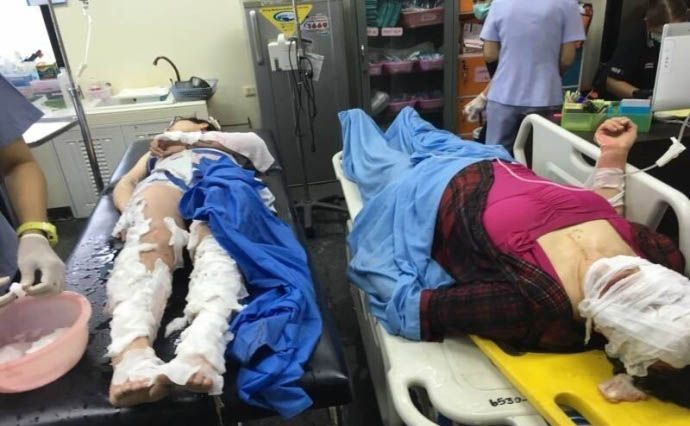 一死近40傷 五中國人重傷
